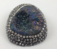 Druzy Agate Pendants , Brooches
