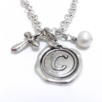 Wax Seal Charm Necklaces, Rings and Bracelets