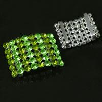 Bracelet Slide Crystals, Peridot Crystal AB