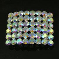35x31mm Silver-n-Crystal AB, Pendant/Slide ea