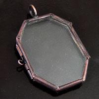2.5x1.7in Octagon(Horcrux), Antiqued Copper -PKG/6