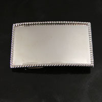 "3"" Rectangle Belt Buckle Base, Silver, each"