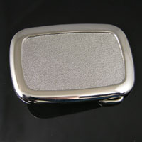 Rectangle Buckle Base, Silver, 1 each