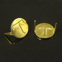 11mm Gold Disc, w/2 prongs, Pkg/12