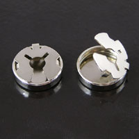 18mm Silver Button Cover pk/12