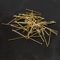 1in Head Pins w/1.8mm head, .05mm thick, Gold Finish, oz