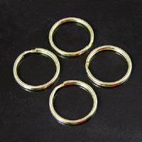 24mm Gold Split Rings/Key Ring, pack of 12