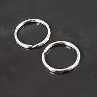 24mm Silver Split Rings/Key Ring pkg/12