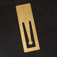 2.5 inch Stamp Antique Gold Metal Bookmark, pack of 6