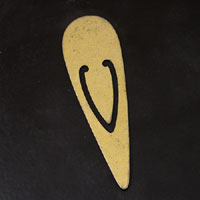 """2.75x0.75"""" Antique Gold Finish Metal Bookmark"""