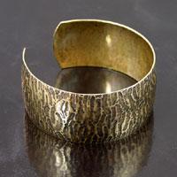 1 inch Zebra Texture Cuff Bracelet, Antiqued Gold, ea