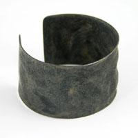 1.5in Hammered Textured Adjustable Cuff Bracelet Blank, Rustic Bronze-Black ea