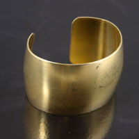 1.5 inch Smooth Adjustable Cuff Bracelet Blank, Brass, ea