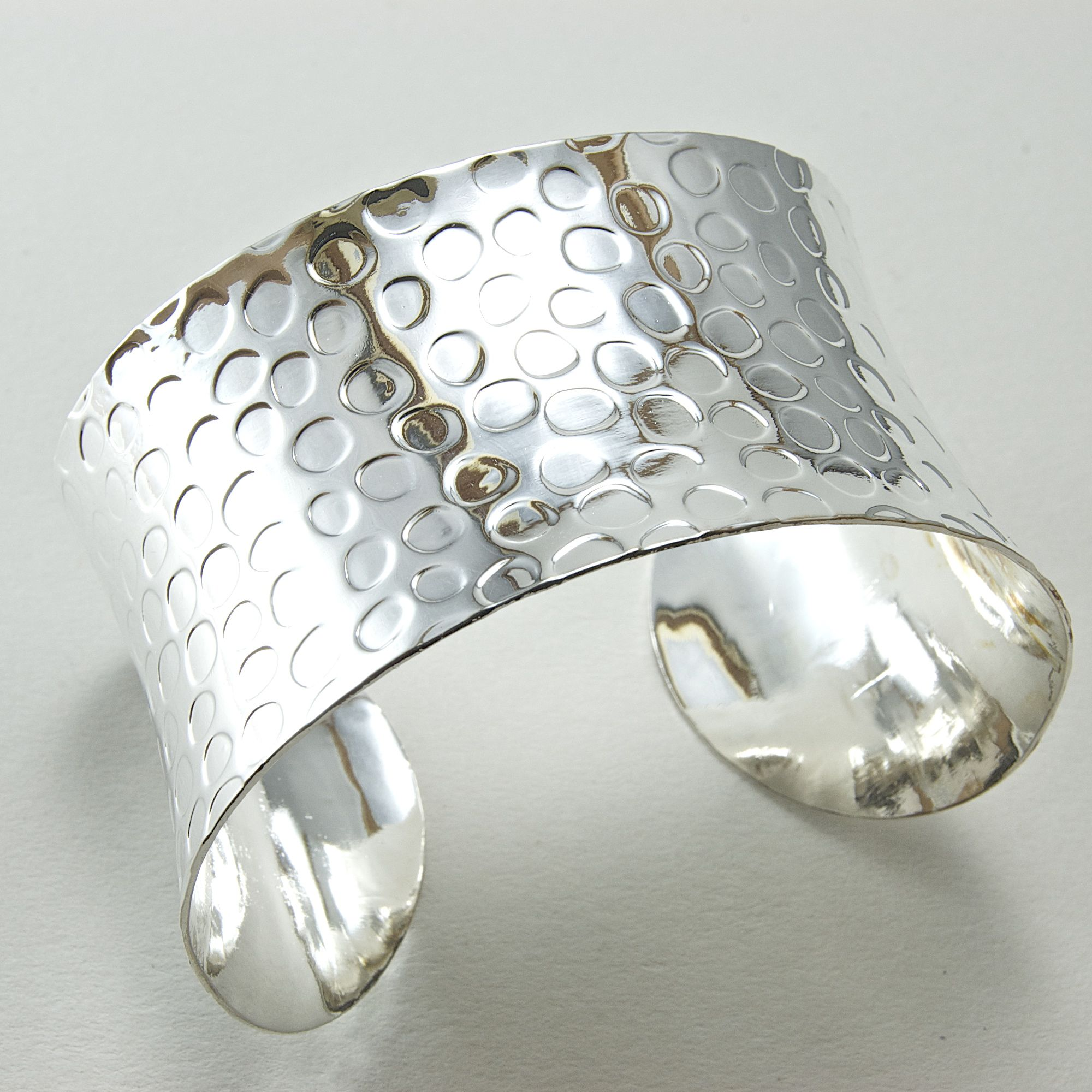 46mm Wide Polished Stamped Silver Cuff, 1 each