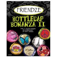 Friendze Designer Papers, Bottle Cap Bonanza II(for Bottle Cap Art-n-Deep-Dish Pendants & Altered Art)