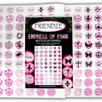 H3 Altered Art Papers, Empress of Pink Bottle Cap, 120 Designs, pack
