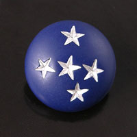 24mm Round Blue-n-Silver Vintage Button, ea