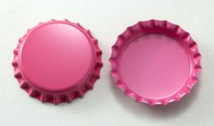 "1"" NEW Two Sided Hot Pink Blank Bottle Caps, pack of 12"