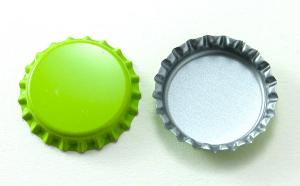 "1"" Lime Green Blank Bottle Caps, pack 12"