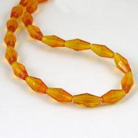 13mm Crystal Bicone Beads, Topaz, 12 inch strand