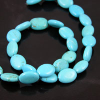 15x11mm Puffed Oval Turquoise Beads, 16in strand