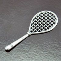 2.37x.90in Tennis Racket, Classic Silver, pk/6