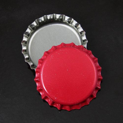Dark Red Blank Bottlecaps, -pk/12