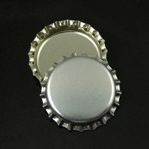 Bright Silver Blank Bottlecaps, -pk/12