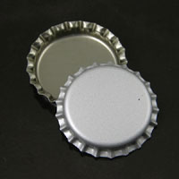 Matte Silver Blank Bottle-caps, -pk/12