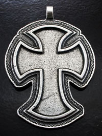 2.12x2.75in Pewter Coptic Cross, Premium Designer Pendant, each