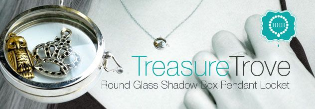 Round Our Glass Shadow Box Pendant Locket